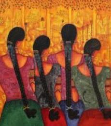 Rhythm | Painting by artist Kappari Kishan | acrylic | Canvas