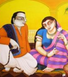 Untitled | Painting by artist Gautam Mukherjii | acrylic | Canvas