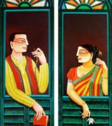 Gautam Mukherjee | Acrylic Painting title SOLD on Canvas | Artist Gautam Mukherjee Gallery | ArtZolo.com