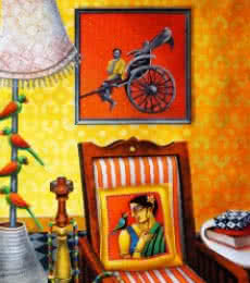 Home | Painting by artist Gautam Mukherjee | acrylic | Canvas