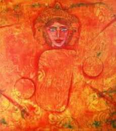 Figurative Acrylic Art Painting title A Girl by artist DADA