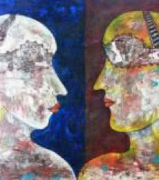 Face To Face | Painting by artist DADA | acrylic | Canvas
