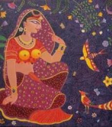 Kunjoban 2   Painting by artist Bhaskar Lahiri   acrylic   Canvas
