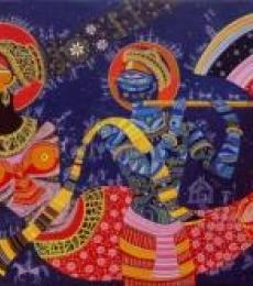 Dream girl 5   Painting by artist Bhaskar Lahiri   acrylic   Canvas