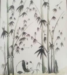 Animals Watercolor Art Painting title Panda by artist Gayathri Nair