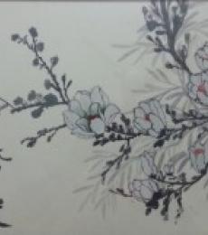 Winter Blossom | Painting by artist Gayathri Nair | watercolor | Paper