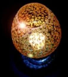 Gold Spirals | Glass art by artist Shweta Vyas