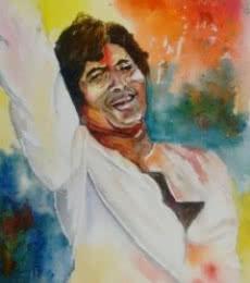 Rang Barse...   Painting by artist Lasya Upadhyaya   watercolor   Paper