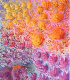Dream Flowers | Painting by artist Lasya Upadhyaya | acrylic | Canvas Board