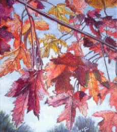 Fall Colours | Painting by artist Lasya Upadhyaya | acrylic | Canvas Board