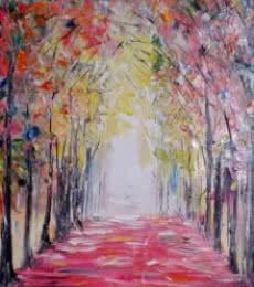Autumn1 | Painting by artist Kiran Bableshwar | oil | Canvas