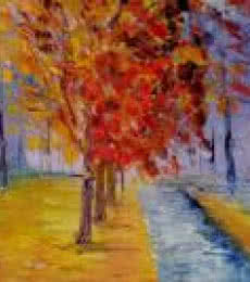 Cross Country Walk   Painting by artist Kiran Bableshwar   oil   Canvas
