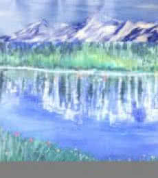 Kiran Bableshwar | Oil Painting title Himalayan Summer on Canvas | Artist Kiran Bableshwar Gallery | ArtZolo.com