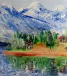 Himalayas | Painting by artist Kiran Bableshwar | oil | Canvas