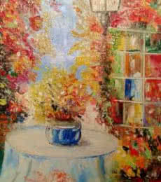 My Garden Edition2 | Painting by artist Kiran Bableshwar | oil | Canvas