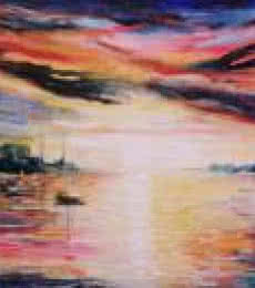 Impressionist Oil Art Painting title 'Overcast Sky' by artist Kiran Bableshwar