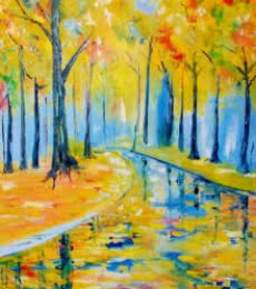 Summer Woods20x13 | Painting by artist Kiran Bableshwar | oil | Canvas
