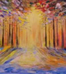 Kiran Bableshwar | Oil Painting title Sunrise on Canvas | Artist Kiran Bableshwar Gallery | ArtZolo.com