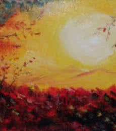 Kiran Bableshwar | Oil Painting title Sunrise On New Year on Canvas | Artist Kiran Bableshwar Gallery | ArtZolo.com
