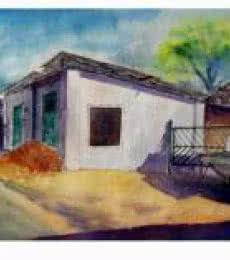 Plain air   Painting by artist Biki Das   watercolor   Paper