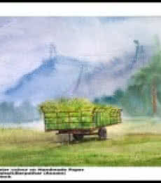 Plain Air | Painting by artist Biki Das | watercolor | Paper