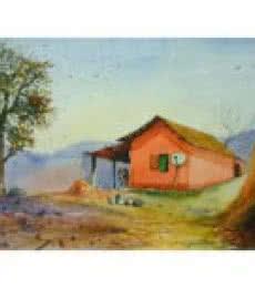 Outdoor   Painting by artist Biki Das   watercolor   Paper