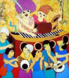 Funny Movement | Painting by artist Dnyaneshwar Bembade | acrylic | Canvas
