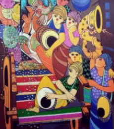 Ganesh Festival | Painting by artist Dnyaneshwar Bembade | acrylic | Canvas