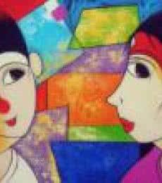Gossip | Painting by artist Dnyaneshwar Bembade | acrylic | Canvas