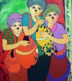 Music I | Painting by artist Dnyaneshwar Bembade | acrylic | Canvas
