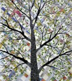 Likhit Vriksh | Mixed_media by artist Sumit Mehndiratta | Handmade Paper