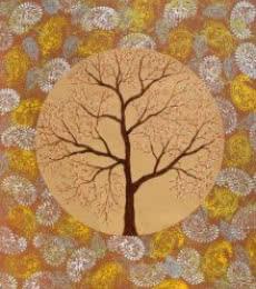 Nature Acrylic Art Painting title Burva Vriksh by artist Sumit Mehndiratta