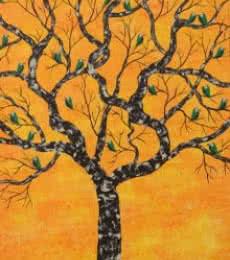 Sumit Mehndiratta | Acrylic Painting title Purva Vriksh on Canvas | Artist Sumit Mehndiratta Gallery | ArtZolo.com