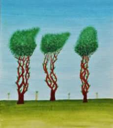 Trees Of Jasoon | Painting by artist Sumit Mehndiratta | acrylic | Paper