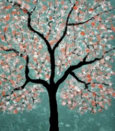 Treescape 1 | Painting by artist Sumit Mehndiratta | acrylic | Canvas