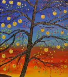 Landscape Acrylic Art Painting title Lakshmi by artist Subodh Maheshwari