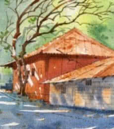 Landscape Watercolor Art Painting title WATERCOLOUR LANDSCAPES by artist Sachin Naik
