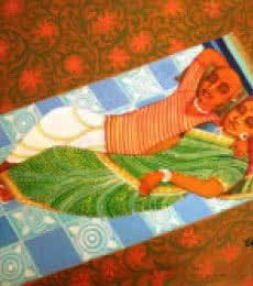 At Rest | Painting by artist V.v. Swamy | acrylic | Canvas