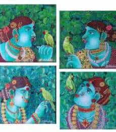 Painting Set 1 | Painting by artist Bhawandla Narahari | acrylic | Canvas