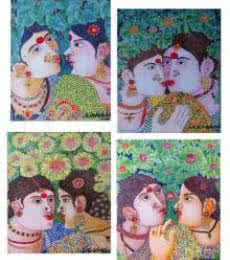 Figurative Acrylic Art Painting title Painting Set 2 by artist Bhawandla Narahari