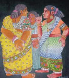 Bhawandla Narahari | Acrylic Painting title Untitled on Paper | Artist Bhawandla Narahari Gallery | ArtZolo.com