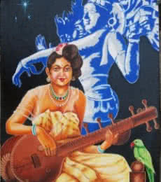 DIVINE MUSIC | Painting by artist RAGUNATH | oil | Canvas
