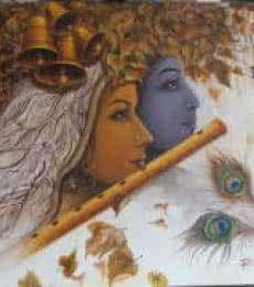 Religious Acrylic Art Painting title 'Radha Krishna II' by artist Rakhi Baid