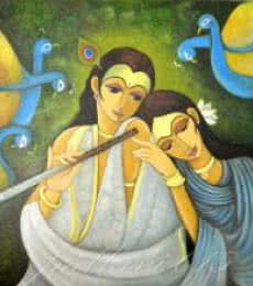 Radha Krishna I | Painting by artist Pallavi Walunj | oil | Canvas