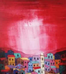 Village 2 | Painting by artist Suresh Gulage | acrylic | Canvas