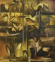 Fantasy Oil Art Painting title 'Ptg 1' by artist Ramesh Kher