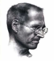 Portrait Pencil Art Drawing title 'Steve Jobs' by artist Pranab Das