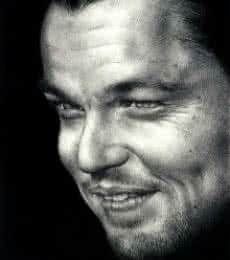 Portrait Pencil Art Drawing title 'Leonardo DiCaprio' by artist Pranab Das