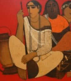 Siddharth Shingade | Acrylic Painting title Musicians on Canvas | Artist Siddharth Shingade Gallery | ArtZolo.com