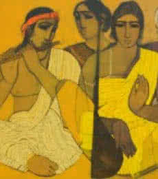 Musicians II | Painting by artist Siddharth Shingade | acrylic | Canvas
